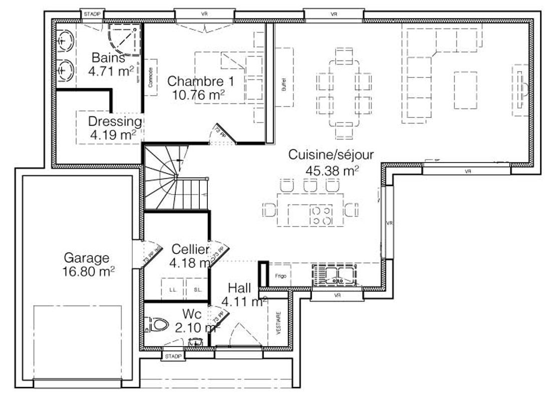 Modele Eole Maison A Toit Plat Avec Terrasse 2